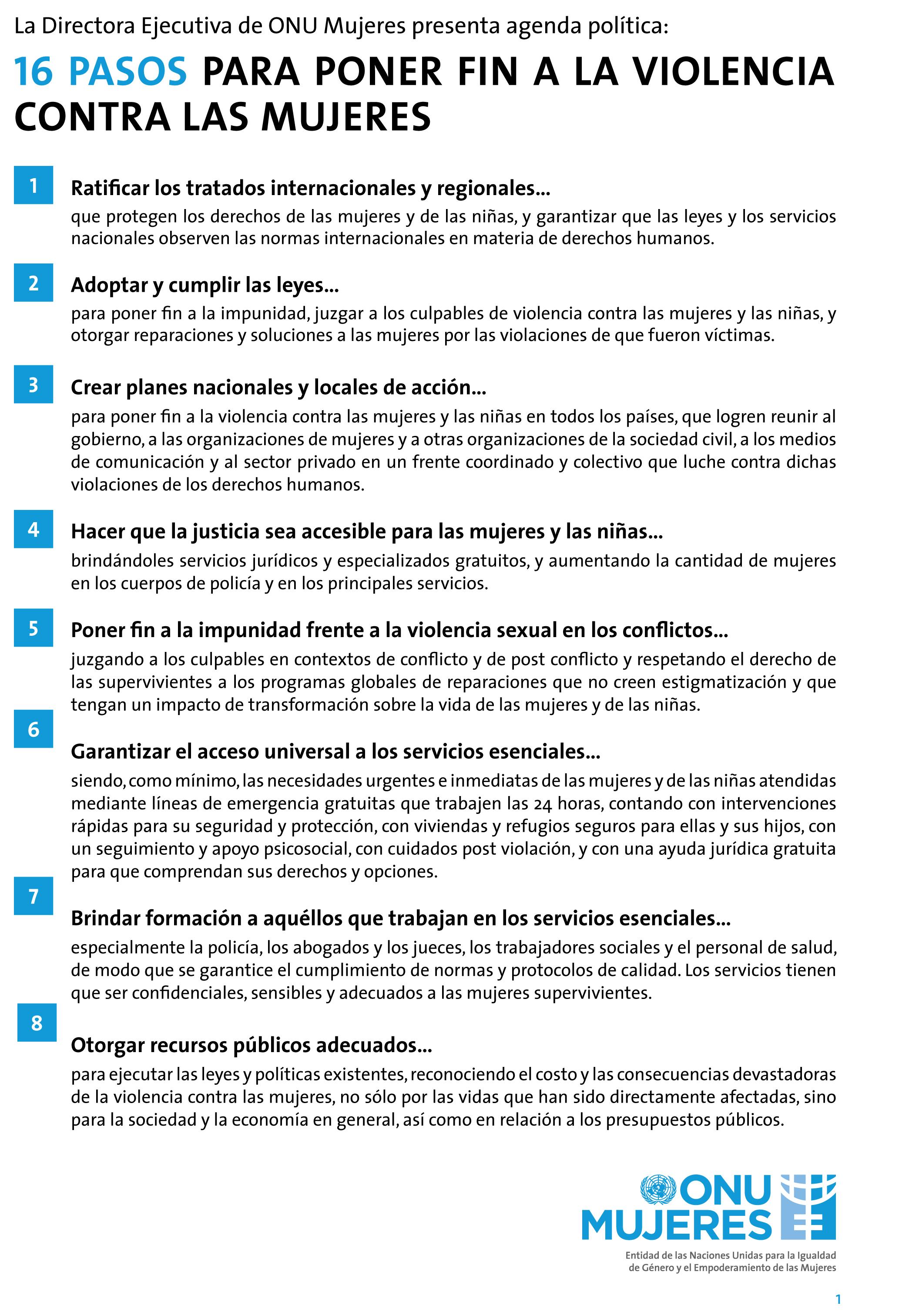 16 pasos para acabar con la violencia machista